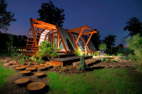 night-view-self-sustainable-house